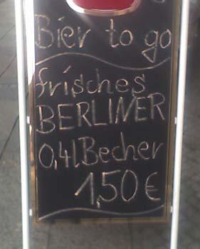 Bier to go