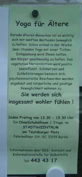 Yoga für Ältere